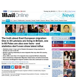 The truth about East European migration but statistics don't even show latest influx