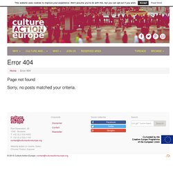 ENCC – European Network of Cultural Centres