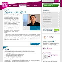 European union official Job Information