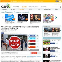 ACTA Voted Down By European Parliament