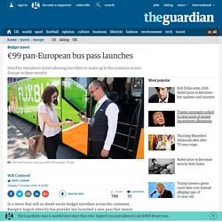 €99 pan-European bus pass launches