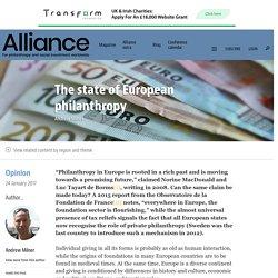 The state of European philanthropy - Alliance magazine