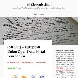(MULTI) – European Union Open Data Portal