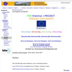 European projects - Urbi Secondary School
