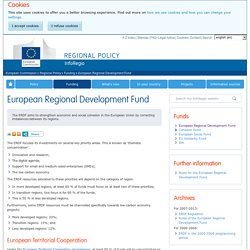 European Regional Development Fund - Regional Policy