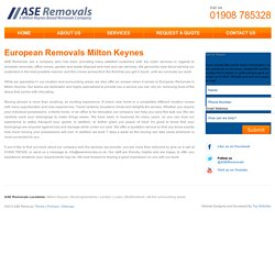 European Removals Milton Keynes