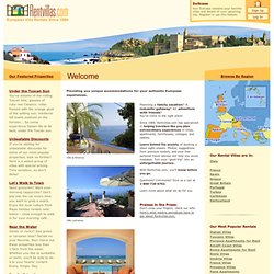 European Villa Rentals and Holiday Villas - Rentvillas.com