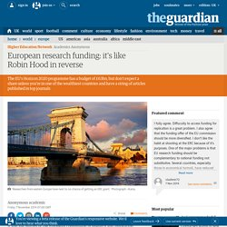 European research funding: it's like Robin Hood in reverse
