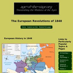 The European Revolutions of 1848 : history