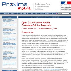 cfp | Proxima Mobile: The European Portal of Mobile Services for Citizens