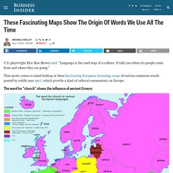 European Maps Showing Origins Of Common Words