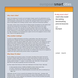 european smart cities - Why smart cites?