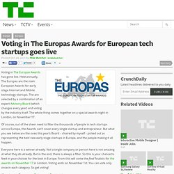 Voting in The Europas Awards for European tech startups goes live