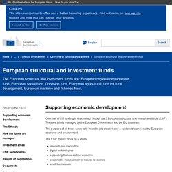 Fondi strutturali e di investimento europei