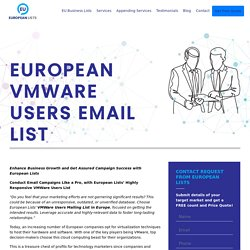 Companies that use VMWare in Europe