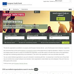 Database of European Voluntary Service accredited organisations