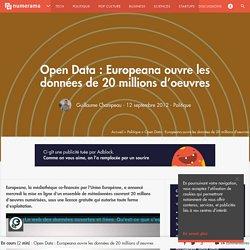 Open Data : Europeana ouvre les données de 20 millions d'oeuvres