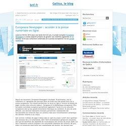 Europeana Newspaper : accéder à la presse numérisée en ligne