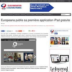 Europeana publie sa première application iPad gratuite
