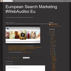 European Best SEO #EuropeanBestSEO bitly.com/2mPCAyT #WebAuditor.Eu Best On-line Marketing & Advertising Top Manager's Europe...