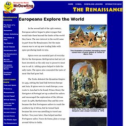 Europeans Explore the World - Common Core lesson