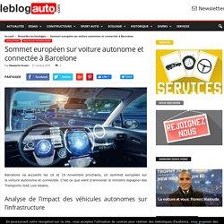 Sommet européen sur voiture autonome et connectée à Barcelone