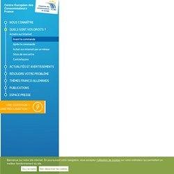 Centre Européen des Consommateurs France: Vérifier le sérieux du vendeur