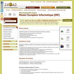 Formation à distance MASTER Informatique - INEAD Cours par correspondance