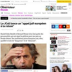 """Le JCall lance un """"appel juif européen à la raison"""" - Monde - No"""