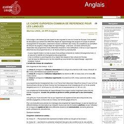 LE CADRE EUROPEEN COMMUN DE REFERENCE POUR LES LANGUES - Anglais