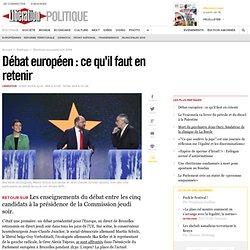 Débat européen: ce qu'il faut en retenir