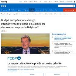 Budget européen: une charge supplémentaire de près de 1,2 milliard d'euros par an pour la Belgique?