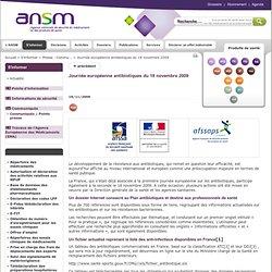 ANSESPS 18/11/09 Journée européenne antibiotiques du 18 novembre 2009