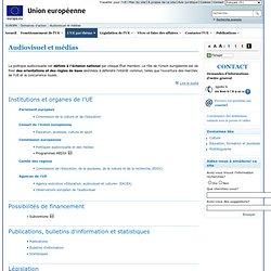 Action de l'Union européenne – Audiovisuel et médias