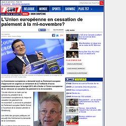L'Union européenne en cessation de paiement à la mi-novembre?