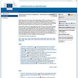 Documents de l'Union européenne - Commission européenne - Livres verts
