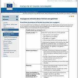 Voyageurs entrant dans l'Union européenne - European commission