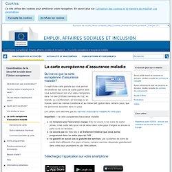 La carte européenne d'assurance maladie - Emploi, affaires sociales et inclusion - Commission européenne