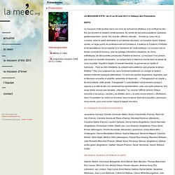 La mousson d été 2010 - La Maison Européenne des Écritures Contemporaines - La MEEC