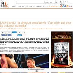 """Droit d'auteur : la directive européenne, """"c'est open-bar pour les industries culturelles"""""""