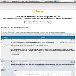 forum officiel de la contre élection européenne de 2014