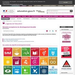 30/05 au 5/06/17 - Semaine européenne du développement durable
