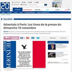 La presse européenne du dimanche 15 novembre fait sa Une sur les attentats de Paris