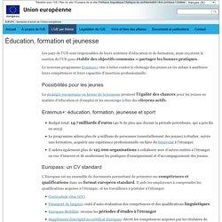 EUROPA - Domaines d'action de l'Union européenne – Éducation, formation et jeunesse