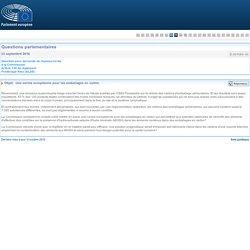 PARLEMENT EUROPEEN - Réponse à question E-007064-16 Une norme européenne pour les emballages en carton