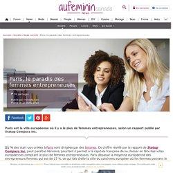 Paris : la ville européenne où il y a le plus de femmes entrepreneuses