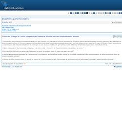 La stratégie de l'Union européenne en matière de produits issus de l'expérimentation animale - E-007375/2011