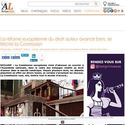 La réforme européenne du droit auteur avance bien, se félicite la Commission
