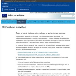 EUROPA - Domaines d'action de l'Union européenne – Recherche et innovation