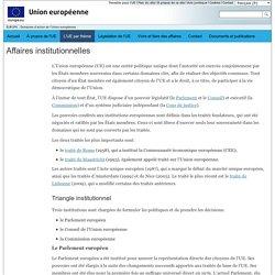 EUROPA - Domaines d'action de l'Union européenne – Affaires institutionnelles